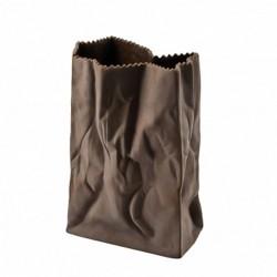 Wazon 18 cm Paper Bag czekoladowy