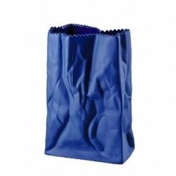 Wazon 18 cm Paper Bag ciemnoniebieski