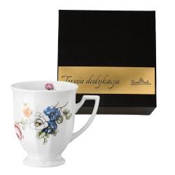 Kubek mały Maria Flowers motyw 1  w pudełku z dedykacją