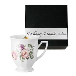 Kubek mały Maria Flowers motyw 4  w pudełku z dedykacją