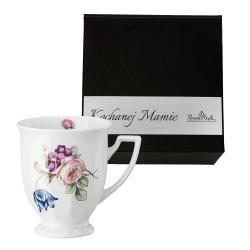 Kubek mały Maria Flowers mot. 2 w pudełku z dedykacją