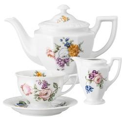 Serwis do herbaty dla 6 osób Maria Flowers