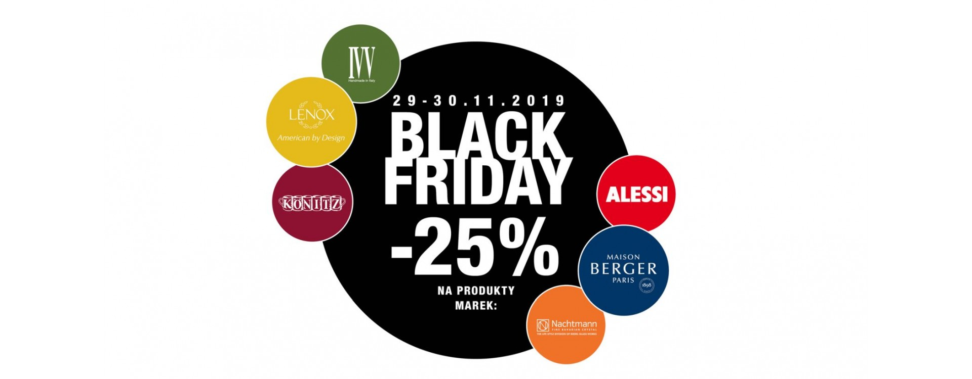 """Black Friday"" – wybrane marki z rabatem 25%!"